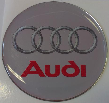 logo AUDI silver-red55