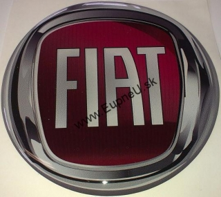 4CARS 3D CAR LOGO FIAT red