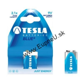 TESLA BLUE+ 9V Zinc Carbon 1ks blister